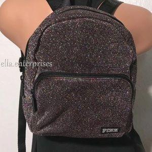 VS Pink Rainbow Multi Shimmer Micro Backpack